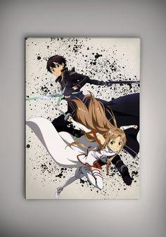Kirito Asuna Sword Art Online Love Anime Manga by EpicShoppe