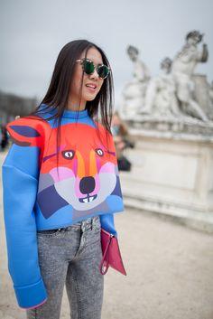 Paris Fashion Week Street Style [Photo by Kuba Dabrowski]