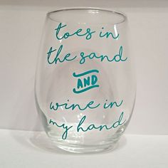 Toes in the Sand Stemless wine glass