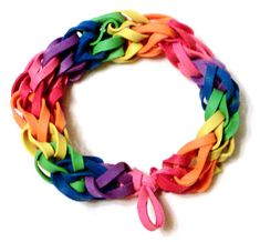 Rainbow Rubber Band Bracelet by BungleBands on Etsy, $4.99