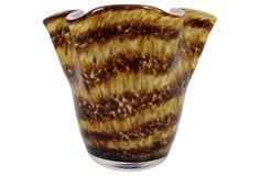 Animal-Print Murano Handkerchief Vase