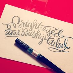 Pentel Colorbrush by Rae Danneman Suggested for hand-lettering. Typography Letters, Typography Logo, Typography Design, Hand Lettering, Art Projects, Projects To Try, Fonts, Stationery, Design Inspiration