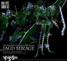 1/100 scale High Spec Garage Kit Type J Huge Hauters Statoweapon MIRAGE Ausf.J JAGD MIRAGE