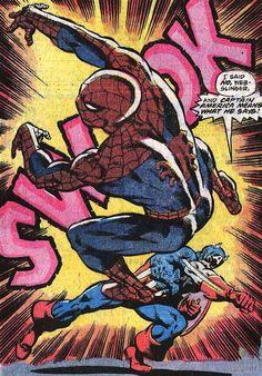 Captain America vs Spider-Man, Amazing Spider-Man #187, December 1978, Jim Starlin and Marv Wolfman