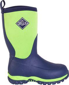 Muck Hale Multi-Season Kids/' Rubber Waterproof Rain Snow Boots Pink Zebra