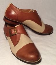 Lucky Brand Dolly Womens Size 8M (38) Brown Leather Monk Strap Oxfords Shoes