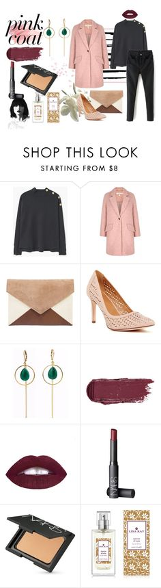 """Pink & Black"" by a-anja ❤ liked on Polyvore featuring MANGO, Uttam Boutique, 14th & Union, Revé, NARS Cosmetics and The 7 Virtues"