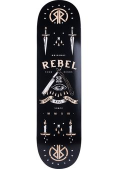 Rebel-Rockers HKD - titus-shop.com #Deck #Skateboard #titus #titusskateshop