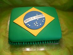 Bolo Brasil Candy, Food, Theme Cakes, World Cup, Interesting Stuff, Decorating Cakes, Ideas, Fondant Cakes, Essen