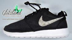 Blinged Black Women's Nike Roshe Run