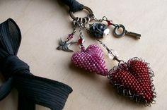 Aleta Ford Baker's beadwoven Hearts - sold on Etsy :)