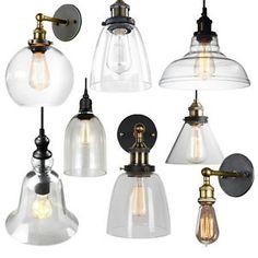 Vintage Industrial Pendant Lighting E27 Edison Ceiling Lamp Wall ...