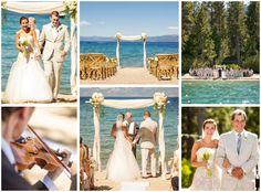 Best lakefront beach wedding on Lake Tahoe