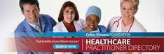 The CDF Healthcare Practitioner Directory is a free listing of physicians, dietitians, mental health professionals and allied health providers in all 50 states, who treat patients with celiac disease and other gluten-related disorders.