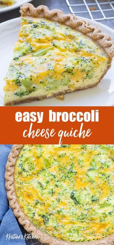quiche recipes An easy broccoli cheese quiche recipe, made with just 5 ingredients! This vegetarian broccoli cheddar quiche is a family favorite for dinner, breakfast or lunch! Vegetarian Quiche, Vegetarian Recipes, Cooking Recipes, Healthy Quiche Recipes, Broccoli Cheese Quiche, Cheddar Cheese, Easy Dinner Recipes, Easy Meals, Lunch Recipes