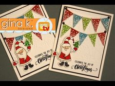 Home For The Holidays Patterned Paper Banners - YouTube
