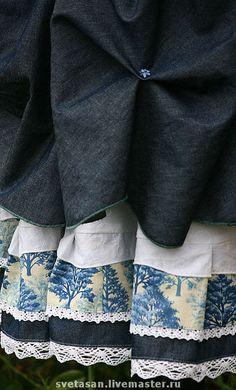 Юбки ручной работы. Ярмарка Мастеров - ручная работа Юбка длинная и прекрасная  №077-1. Handmade.