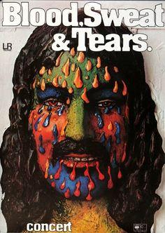 Blood, Sweat & Tears - No Sweat 1973 - Poster Plakat Konzertposter