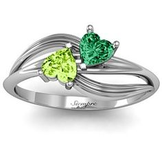 Promise Ring<3 Emerald & Peridot