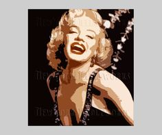 Marilyn Monroe Abstract Pattern Marilyn by NewYorkNeedleworks, $8.50
