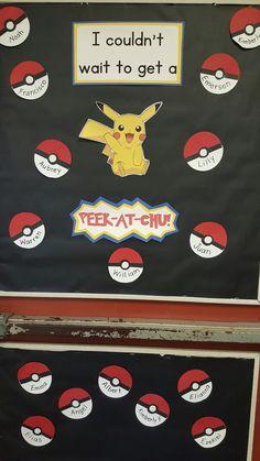 Pokemon Go classroom door. Back to School