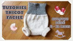 Layette, tutoriel tricot culotte bébé/Knit bloomers/a maglia calzoncini