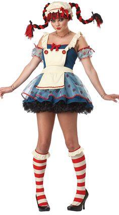 3512de0b7f Rag Doll Costume Fantasias Criativas
