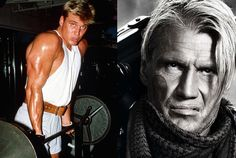 Dolph Lundgren as Gunnar Jensen in The Expendables 2 Chuck Norris, Bruce Willis, Sylvester Stallone, Arnold Schwarzenegger, Keanu Reeves, Dolph Lundgren, Stars Then And Now, The Expendables, Famous Stars