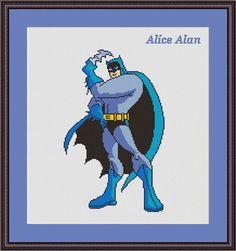 Cross Stitch Pattern Batman superhero comics TV от HallStitch