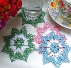 Little Blossoms Coasters Pattern