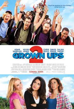 Grown Ups 2 , starring Adam Sandler, Kevin James, Chris Rock, David Spade. After moving his family back to his hometown to be with his friends and their kids, Lenny finds out that between old bullies, new bullies, schizo bus drivers, drunk cops on skis, and 400 costumed party crashers sometimes crazy follows you. #Comedy