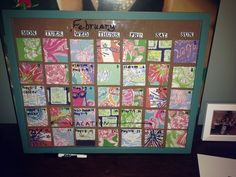 Lilly Pulitzer DIY dry erase calendar!