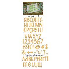 "Adorn Simple Block  (JuJu) - .5"", .75 "", 1"", 1.25"", 1.5"", 2""; Upper, Numbers & Punctuation"