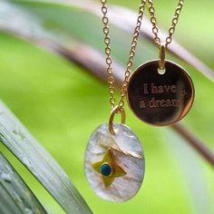 • I have a dream • Collaboration delphinepariente x virginieberman disponible sur notre eshop delphinepariente.fr Médaille plaqué or 18 carats et pendentif labradorite et turquoise #delphinepariente #paris #biarritz #btz #personalizedjewelry #jewelry #designerjewelry #necklace #gold #bijoux #love #forever #star #madeinfrance regram @cc_et_cie