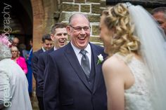 Father of the groom laughing with the bridal party after the wedding Laughing, Groom, Father, Wedding Photography, Bridal, Wedding Dresses, Party, Fashion, Pai