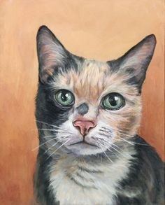 8x8 inches $150 CAD, #custompetportrait #petlovers #catpainting #catgifts #petpainting #gift #petportrait #catportrait #birthday #customcatportrait #cats #pets