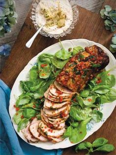 Balsamicomarinerad fläskfilé till buffé. Garneringen! Foto: Jenny Grimsgård Pork Recipes, Cooking Recipes, Healthy Recipes, Food For A Crowd, Food For Thought, Food Hacks, Love Food, Food Inspiration, The Best