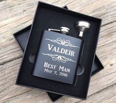 Personalized Gift Engraved Hip Flask Father of by TheSmilinBride