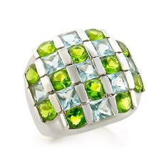 Sterling Silver Ring with Multi-Color Cubic Zirconia Jewelry, VORI03-01539