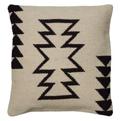 Just ordered two of this guy -- LOVE! >> Rizzy Home Woven Southwestern Zig Zag Pattern Decorative Throw Pillow | from hayneedle.com