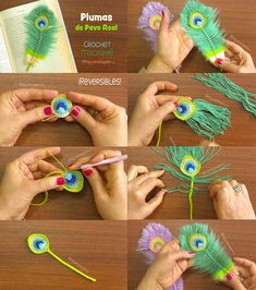😃 ¿Ya tejieron su pluma de Pavo real a crochet y macramé? 🤔 Les dejamos un resumen del paso a paso para que se animen a… Knitting For BeginnersKnitting HumorCrochet BlanketCrochet Ideas Peacock Crochet, Crochet Feather, Crochet Cord, Crochet Video, Crochet Motif, Crochet Flowers, Crochet Patterns, Diy Macrame Earrings, Crochet Earrings