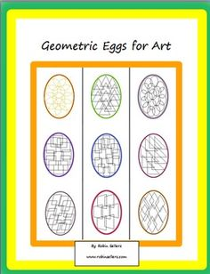Easy Easter Craft with a Math Connection: Paint, color, use ink or markers. It's your choice with these geometric coloring eggs that help you review 2D shapes.
