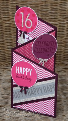 tri fold card tutorial like the different patterns instead of all