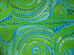 Vintage Finnish  fabric Simpukka, design Marjatta  Metsovaara  1963