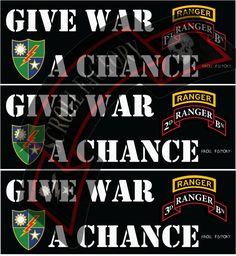 Sticker - Give War A Chance - Pre-Order