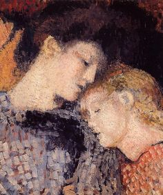 Woman And Child, Georges Lemmen (1865 – 1916, Belgian)
