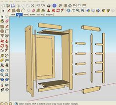 Woodworking School Sketchup Woodworking Plans - Do It Yourself Your Furniture Woodworking Furniture Plans, Woodworking School, Learn Woodworking, Popular Woodworking, Teds Woodworking, Sketchup Woodworking, Woodworking Software, Woodworking Hacks, Woodworking Machinery