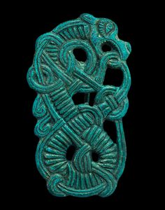 Viking Bronze Enmeshed Dragon Brooch, 10th Century