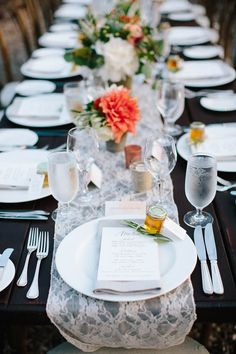 Rustic tablescape | Photo by Annie McElwain | Read more - http://www.100layercake.com/blog/?p=78950 #wedding #ojai #california