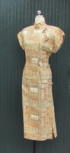 PERSIAN PERSUASION Vintage 1950's Cheongsam Dress by lovestreetsf